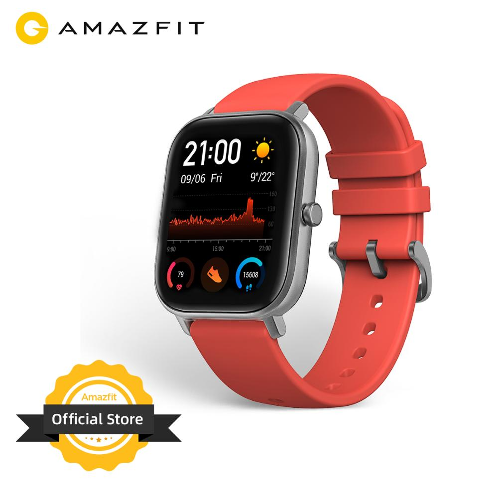 Global Version Amazfit GTS Smart Watch 5ATM Waterproof Swimming Smartwatch NEW 14Days Battery Editible Widgets For Xiaomi