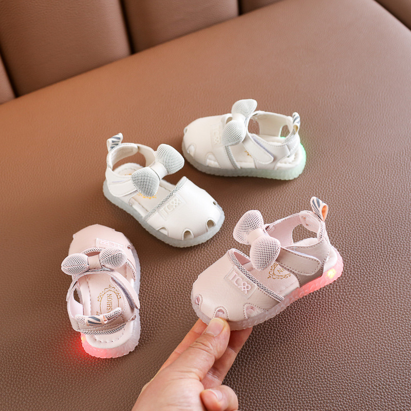 Spring And Summer Girls Sandals Bow Light Beach Shoes Toddler Shoes Children's Shoes  Sandals Baby Girl