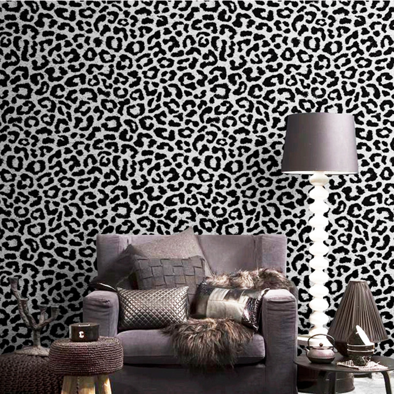Leopard Wallpaper Black Pink Yellow Blue Wall Paper Fashion Modern Luxury Women Bedroom Background
