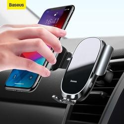 Baseus uchwyt samochodowy na telefon odpowietrznik automatyczny zacisk inteligentny czujnik dotykowy stojak na telefon komórkowy do telefonu iPhone 11 Samsung|Uchwyty samochodowe|Samochody i motocykle -