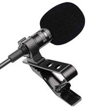 1.5m Mini Portable Lavalier Microphone condensateur pince-on revers micro filaire Mikrofo/Microfon pour téléphone pour ordinateur Portable