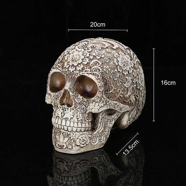 Statues Sculptures Resin Halloween Home Decor Decorative Craft Skull Size 1:1 Model Life Replica Medical High Quality 6