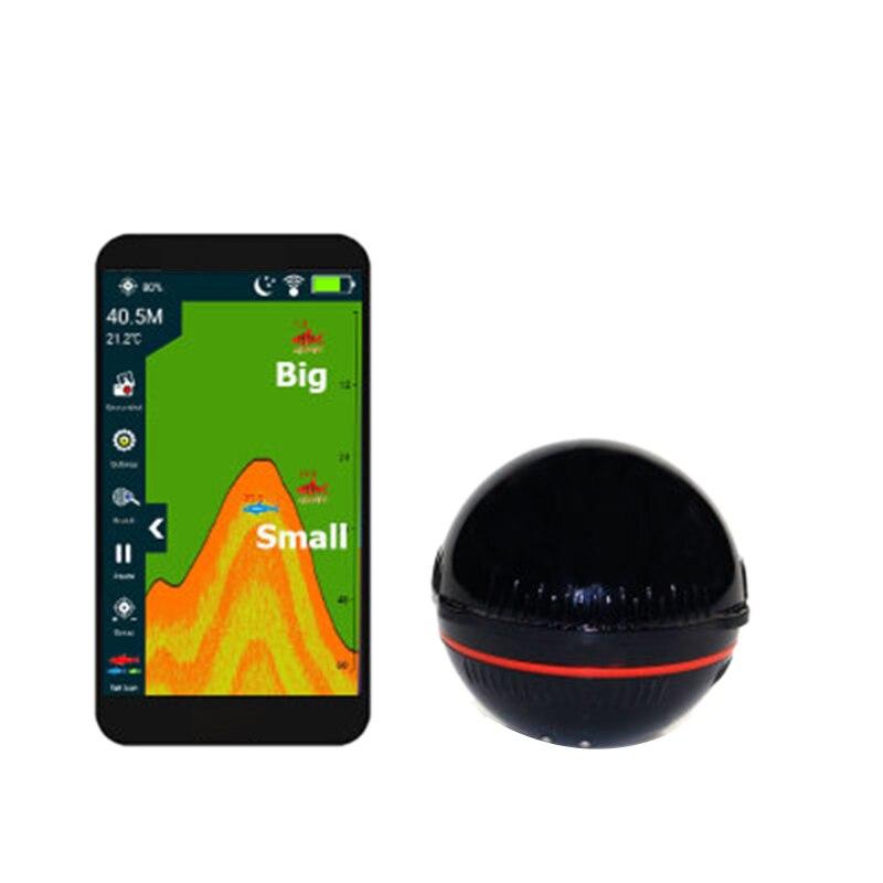 Erchang F3W détecteur de poisson Portable pêche écho sondeur 48 M/160Ft capteur de profondeur détecteur de poisson alarme de pêche Ios et Android