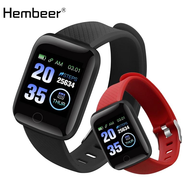 Hembeer d13 relógios de fitness relógio inteligente monitor freqüência cardíaca monitor pressão arterial para ios android iphone telefone