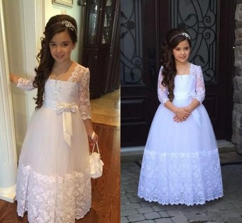 Pageant Dresses For Girls Simple Kids Formal Wear Birthday Party Flower Girl Dress First Communion Dress For Girls