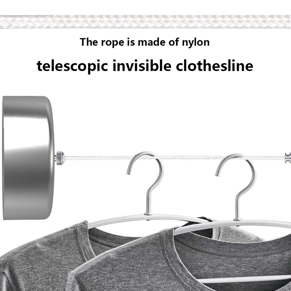 Cintre rétractable pour vêtements d'intérieur | Corde, mural, cintre de séchage porte-serviettes, ligne de vêtements Flexible, sèche-vêtements de salle de bains