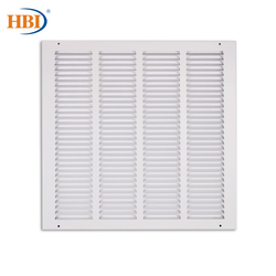 10PCS W16 x H16 Steel White Finished Return Air Grilles Ceiling Air Vent Ceiling Duct Cover Air Register Ventilation Grilles
