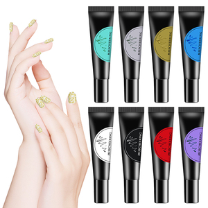 12 Color Nail Stamping Gel Painted Rubber Hose Printing Template DIY Design Manicure Nail Printing Glue 8ml TSLM1