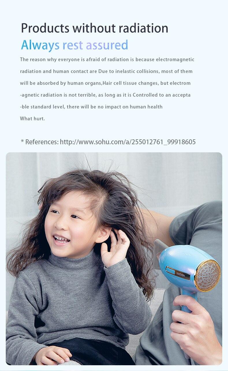 Youpin enchen anion secador de cabelo profissional