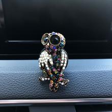 2020 Crystal Owl odświeżacz do samochodu śliczny samochód akcesoria dekoracja samochodu wnętrze wisiorek do samochodu akcesoria samochodowe dla dziewczynek samochód odpowietrznik tanie tanio NoEnName_Null Lemon Sztuczny Kryształ Żel Odświeżacz powietrza Freshener 10mm 50mm