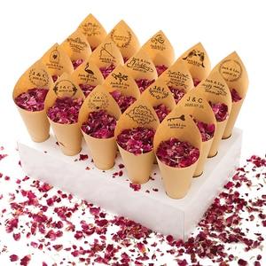 Image 5 - 색종이 콘 홀더 FEESTIGO 자연 꽃잎 색종이 콘 홀더 웨딩 장식 파티 포퍼 콘 스탠드 박스 트레이