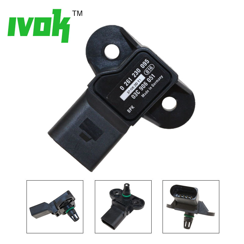 Brand New MAP Sensor For VW GTI Golf Beetle 2.5L A4 A5 A6 0 261 230 095 03C906051 03C906051F 03C906051E