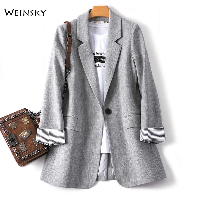 2020 Nieuwe Fashion Business Plaid Suits Vrouwen Werk Office Dames Lange Mouwen Lente Casual Blazer