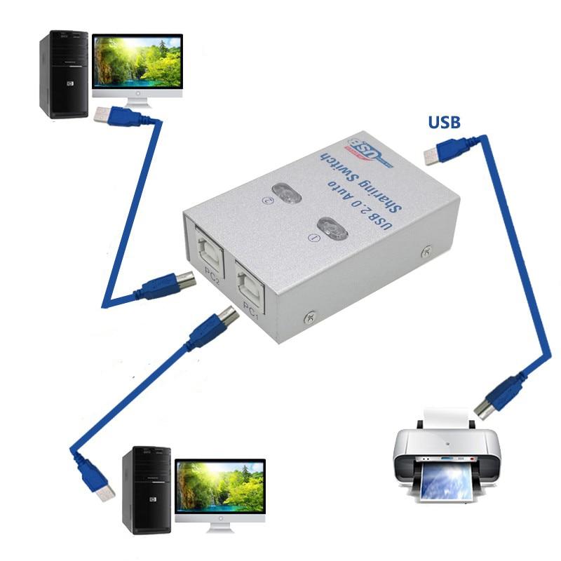 USB HUB Usb Auto Sharing Switch For 2/4 Computer Sharing Printer Supports 2/4 Computers To Share 1 USB Device