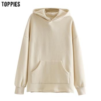 toppies Loose Oversize Hoodies Woman Sweatshirt autumn winter Female fleece hoodies 2020 women Sweat-shirts