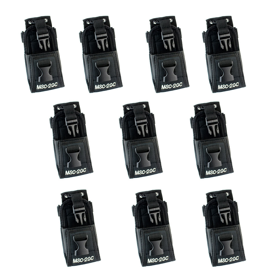 10pcs New  MSC-20C Multi-function Radio Case Holder For BF-888S/ Kenwood/ Motorola YS Walkie Talkie J4000A