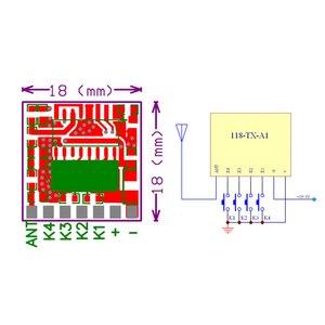 Image 5 - Rubrum RF 433 Mhz 1527 Mã Học Điều Khiển Từ Xa Không Dây Module Phát & 433.92 MHz DC 12V 24V máy Thu Mini DIY