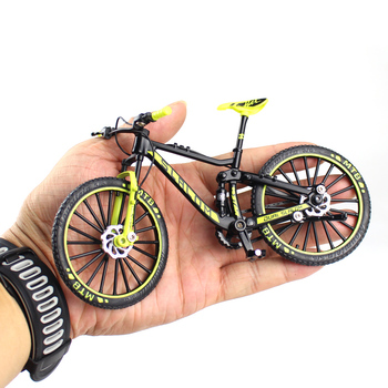 Mini 1 10 rower ze stopu Model odlewany Metal Finger Mountain bike Racing Toy Bend Road symulacja kolekcja zabawek dla dzieci tanie i dobre opinie CN (pochodzenie) Keep away from fire about 17cm Finger rowery 5-7 lat 8-11 lat 12-15 lat Dorośli