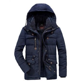 New Arrival Winter Parka Jacket Men Fashion Hooded Collar Mid-long Winter Coat Men Windbreaker Warm Outerwear Plus Size7XL 8XL