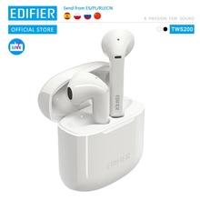 EDIFIER TWS200 TWS écouteurs Qualcomm aptX écouteur sans fil Bluetooth 5.0 cVc double micro suppression de bruit jusquà 24h de lecture