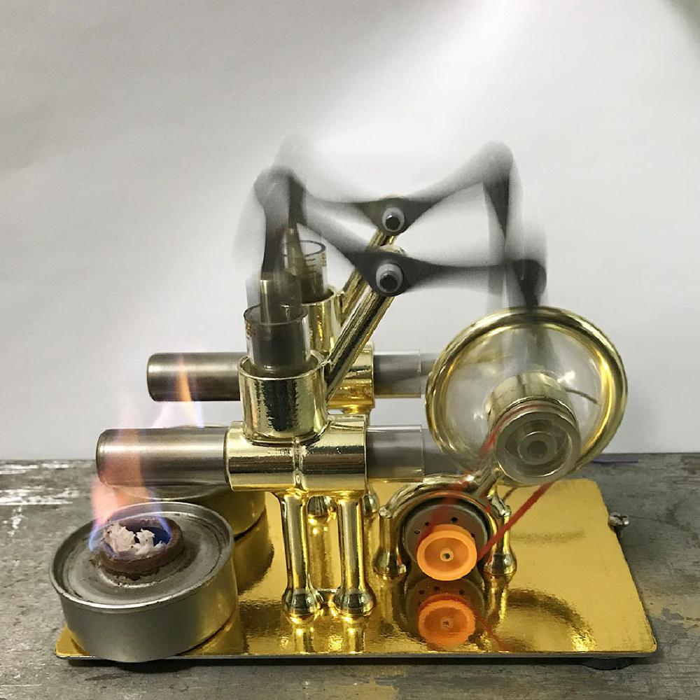 Stirling Engine Motor Model Heat Steam Education Diy Toy Gift For Kid Craft Ornament Discovery Alternator Physical Enlightenment Big Discount Black