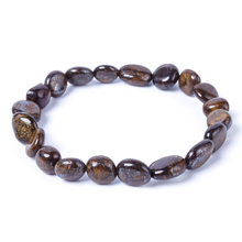 Natural 8x10mm bronze gray bracelet for men and women fashion energy Charm Bracelet Jewelry Gifts