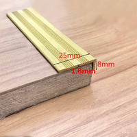 25x8mm Right Angle Non Skid Cover Brass Layering Ceramic Tile Fillet Floor Edging L Shaped Corner Guard Floor Decorative Strip