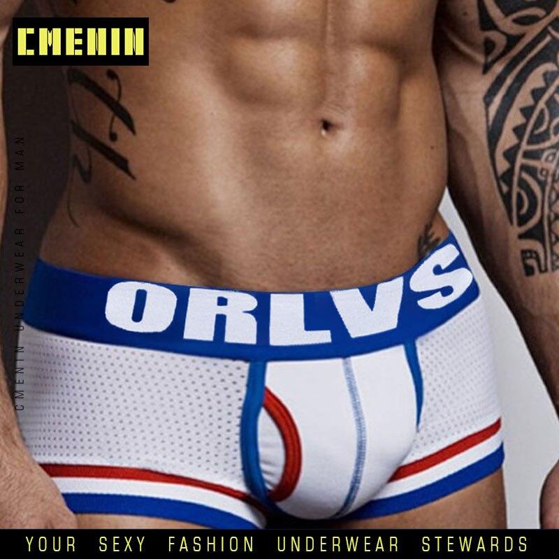 2019 Best Brand men Underwear Boxer Mesh boxers Sexy cueca masculina Boxers Mesh shorts Gay Underwear Man male boy underpants