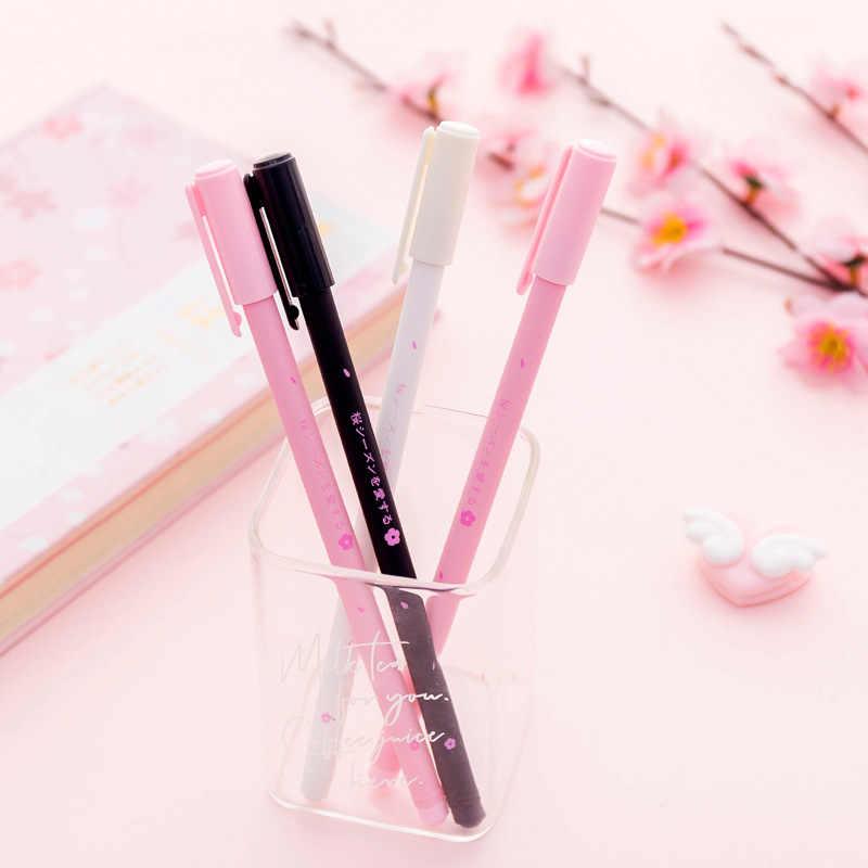 1 Pcs Indah Cherry Aroma Gel Pena Korea Selatan Lucu Kecil Segar Pena Hitam Pena Siswa Alat Tulis Test Pen