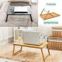 Folding table desk Portable wood computer desk Kids study living room bedroom in bed/ sofa/ floor Outdoor desk Coffe tea table(China)