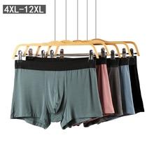 2pcs / lot Big Size 4XL 12XL Mens underwear Super Soft Modal Cotton boxer Shorts Loose Breathable plus boxer large Underpants