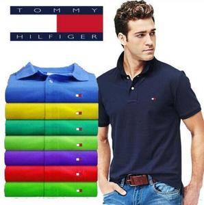 TOMMY Man Polo Shirt Brand Casual Deer Embroidery Polo shirt Men Short Sleeve High Quantity Polo Men