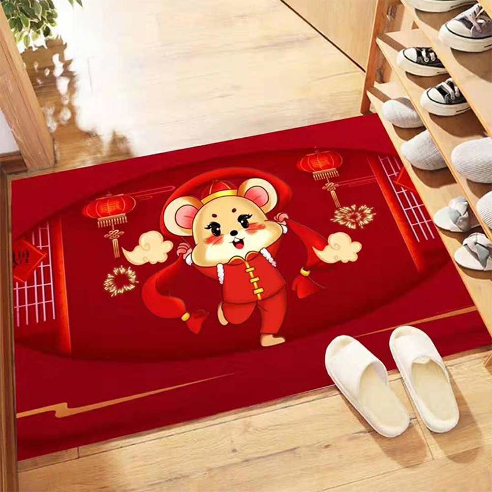 2020 New Year Mascot Carpet Bathroom Mat Non Slip Eco-friendly Polyeste Door Way Carpet Home Decoration Living Room Rug