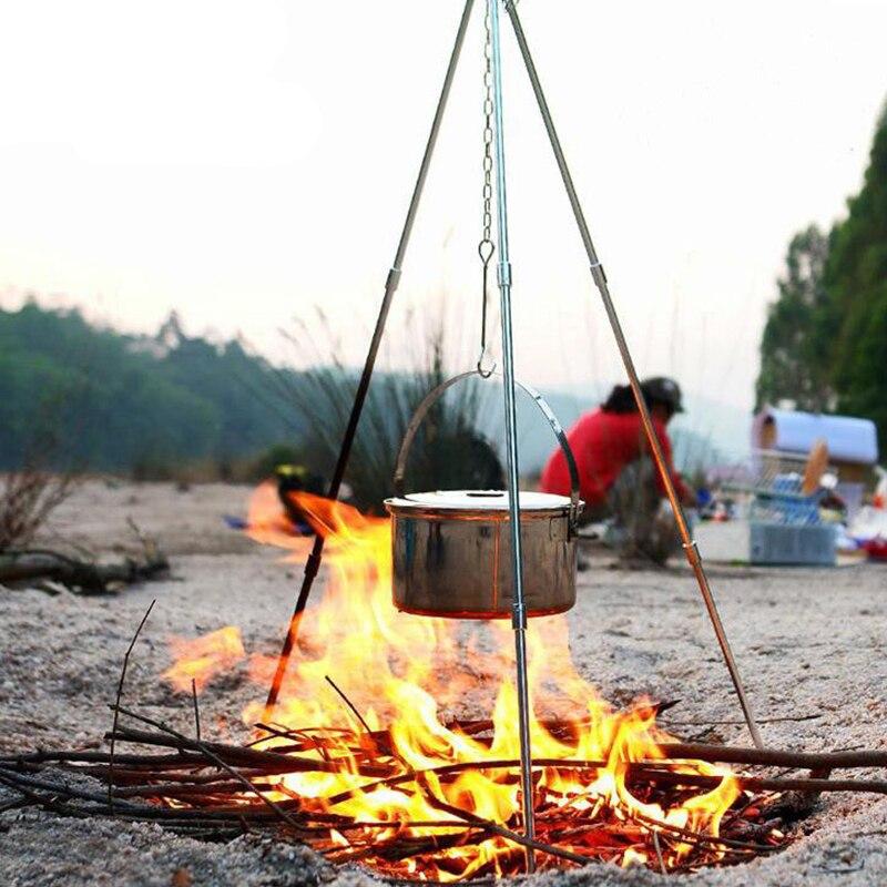 Открытый набор для приготовления пищи для кемпинга 1.1л портативный водонагреватель для пикника варочный штатив котелок для барбекю гриль п...