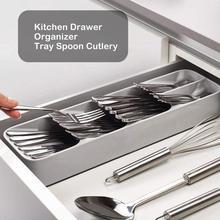 Kitchen Storage Tray Knife Fork Spoon Cutlery Box Separation Finishing Storage Box Kitchen Drawer Organizer Tools Accessories