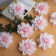 12cm Peony Flower Head Dahlia Fake Flowers Diy Wedding Wall Background Artificial Decorative