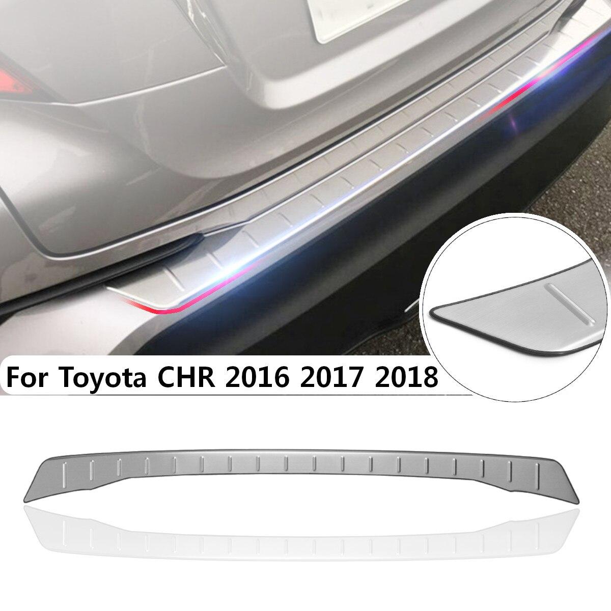 스테인레스 스틸 뒷 트렁크 패드 휠 펜더 백 플레이트 보호 가드 플레이트 트림 도요타 chr 2016 2017 2018