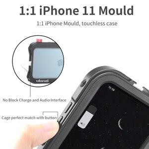 Image 3 - Ulanzi Vlog metalowa obudowa do iPhone 11 nagrywanie wideo nagrywanie Vlogging Case z gwintem 17MM 1/4 śruba
