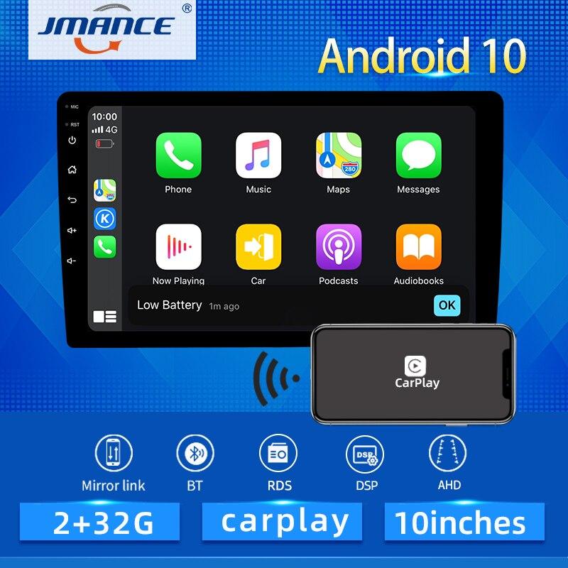 JMANCE Video-Player Multimedia Gps-Navigation DSP Car-Radio Carplay 10inch Android 10