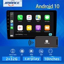 Jmance 10 Polegada 4g rede dsp rds android 10 multimídia player de vídeo alta fidelidade navegação gps rádio do carro estéreo wi fi bt carplay anto ahd