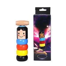 Креативная странная волшебная игрушка неизлечимый злодей маленький деревянный человек улыбающееся лицо кукольная игрушка забавная кукольная игрушка Детские странные игрушки