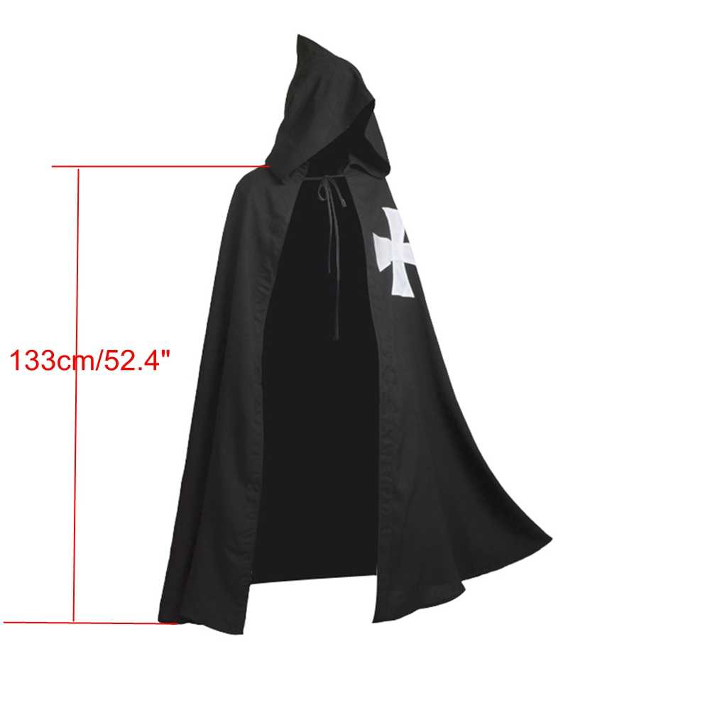 Halloween Middeleeuwse Kostuum Voor Mannen Volwassen Knight Templar Warriors Crusader Cosplay Hospitaller Larp Kleding