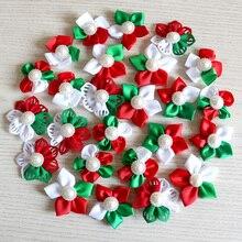 100 шт рождественские аксессуары для собачьей шерсти банты для собак для праздников банты для собак для ухода за собаками банты для маленьких собак