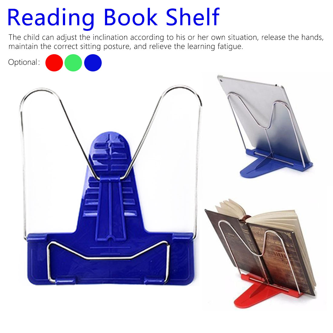 Adjustable Bookend Stand Reading Book Stand  1pcs Document Holder Base Reading Book Holder Bookends Portable Foldable