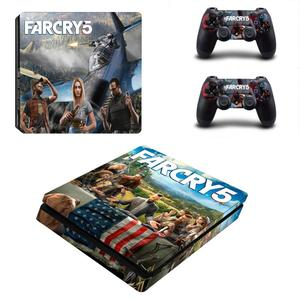Image 5 - FARCRY Weit Cry 5 PS4 Dünne Aufkleber Play station 4 Haut Aufkleber Decals Für PlayStation 4 PS4 Slim Konsole & controller