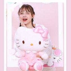 Плюшевая кукла Hello-Kitty, милая женская кукла принцессы с розовым сердцем, 40 см, подарок для девочки, кукла