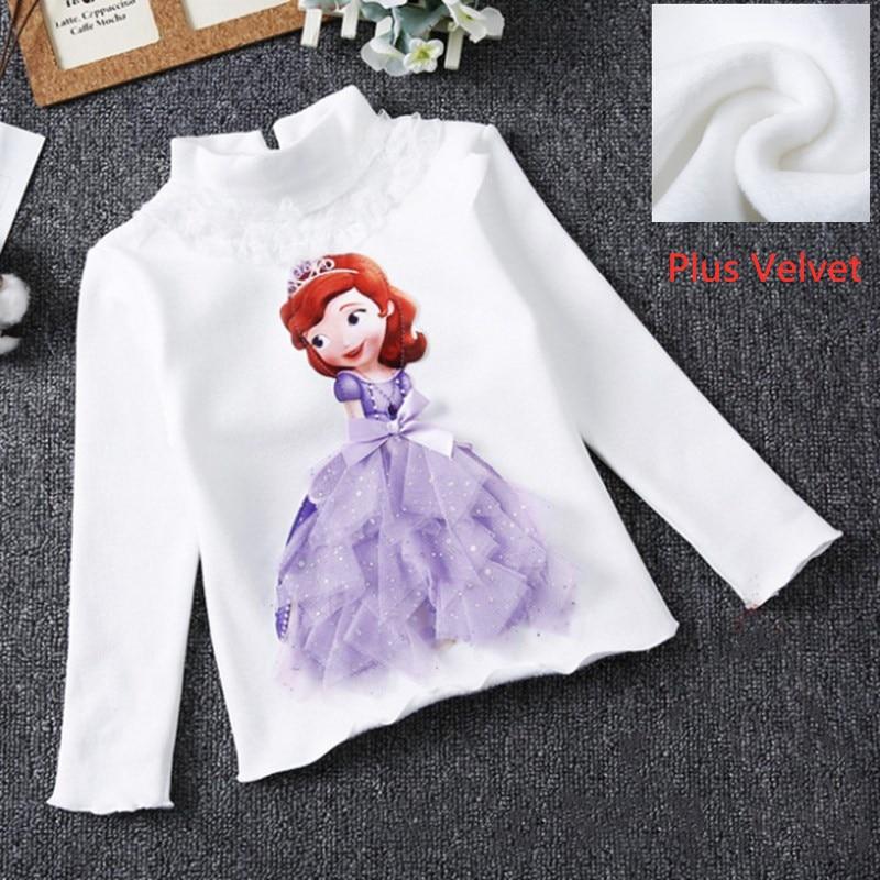 Girls New Summer Princess T-Shirt Elsa Childen Cotton Tees Lace T Shirt 3D Diamond Appliques Kids Birthday Party Top Clothing 20