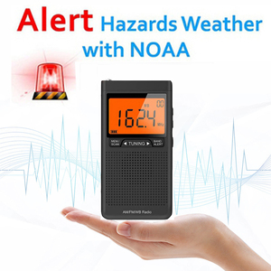 Emergency Pocket Radio Am Fm Weather Radio Compact Portable Auto-Search Save 20 AM or RM channels Speaker portatil de bolsillo