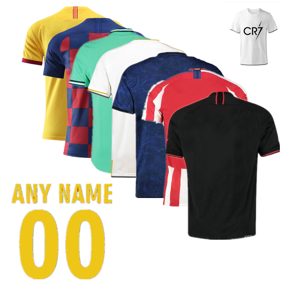 Real 19/20 Fashion Barcaed Men's Football Clothing Madrid Messi Griezmann Soccer Shirts S-2XL Shirt Tops Jersey