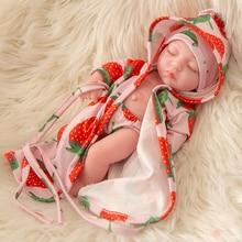 Closed eyes 10 Inch 25cm Silicone vinyl Reborn Baby Doll Realistic  Handmade bebe girl Boneca Kids Reborn Babies Christmas Gift недорого